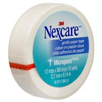 Nexcare Micropore Gentle Paper Tape White 12.5mm x 9.14m