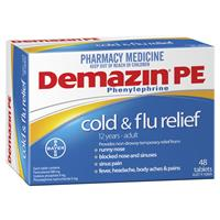 Demazin PE Cold & Flu Tablets 48