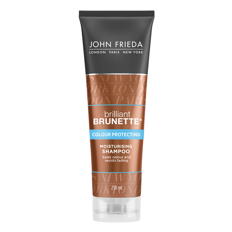 john frieda brilliant brunette shampoo moisturising 250ml epharmacy. Black Bedroom Furniture Sets. Home Design Ideas