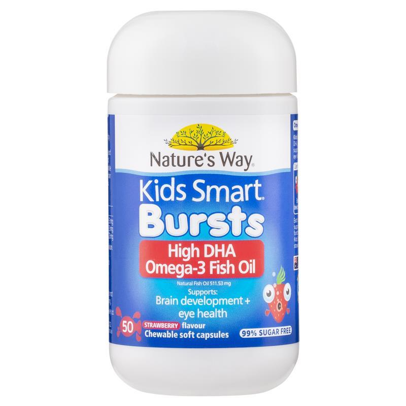 Nature 39 s way kids smart omega 3 fish oil strawberry for Does fish oil help your hair grow