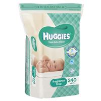 Huggies Baby Wipes Unscented Jumbo Refill 240