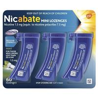 Nicabate Minis Quit Smoking Lozenge 1.5mg 60 pieces