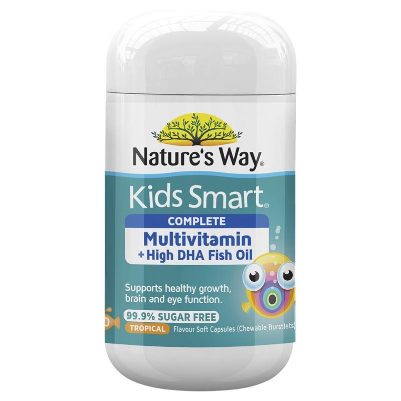 Buy nature 39 s way kids smart complete multi vitamin fish for Fish oil vitamins benefits