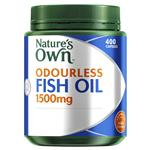 Nature's Own Odourless Fish Oil 1500mg High Strength 400 Capsules