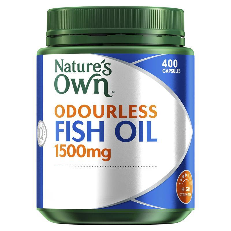 Buy nature 39 s own odourless fish oil 1500mg high strength for Fish oil capsules