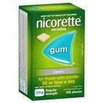 Nicorette Regular Strength (2mg) Classic 105 Chewing Gum