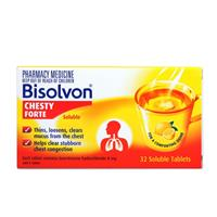 Bisolvon Chesty Forte 8mg Soluble 32 Tablets