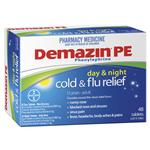 Demazin PE Cold & Flu Day & Night Relief 48 Tablets