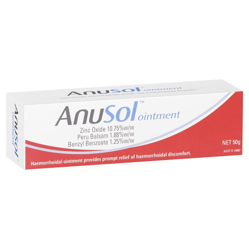 Buy Anusol Ointment 50g Online at Chemist Warehouse®