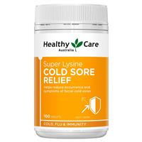 Healthy Care Super Lysine Cold Sore Relief 1000mg 100 Tablets