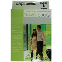 Oapl 41034 Travel Stockings Black Large
