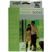 Oapl 41035 Travel Socks Black Extra Large