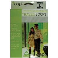 Oapl 41038 Travel Stockings Beige Large
