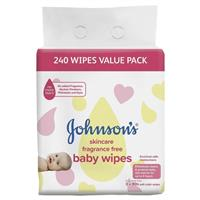 Johnson & Johnson - Johnson's Baby Fragrance Free Wipes 240 Value Pack