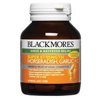 Blackmores Super Strength Horseradish Garlic + C 50 Tablets