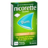 Nicorette Gum 2mg Fresh Fruit 30 Pieces