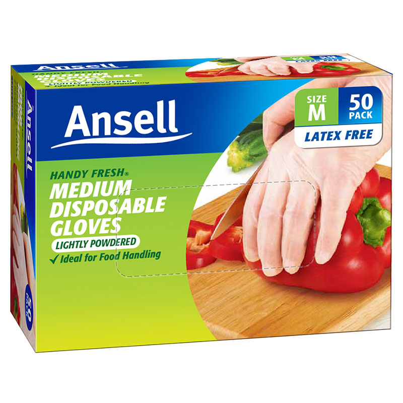 Image of Ansell Glove Handy Disposable Fresh Gloves 50