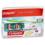 Colgate Travel Essentials Toothbrush, Toothpaste, Mouthwash, Floss & travel bag Pack