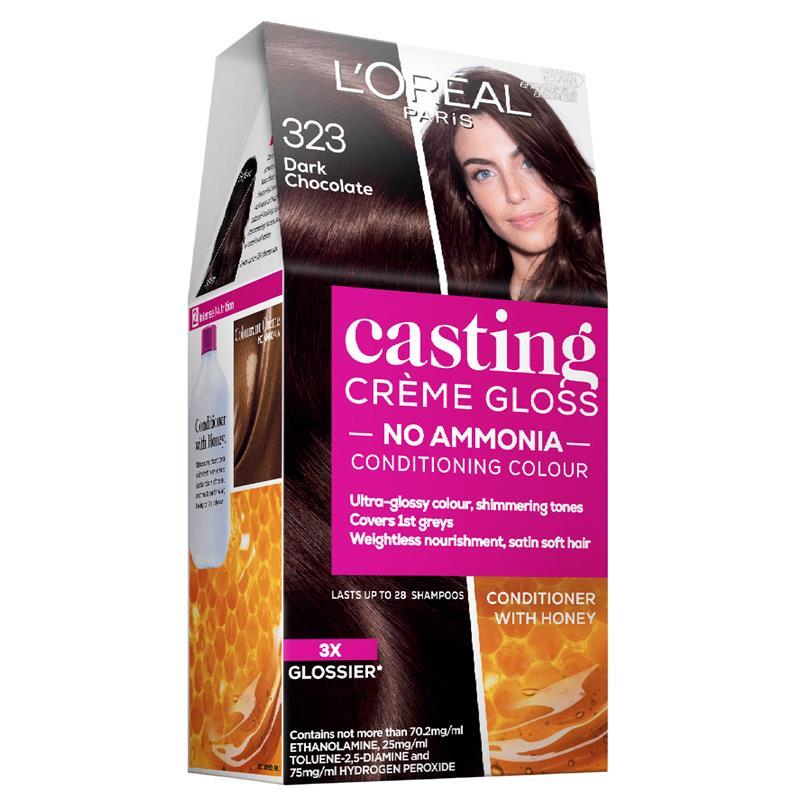 Buy L Oreal Casting Creme Gloss 323 Dark Chocolate Online