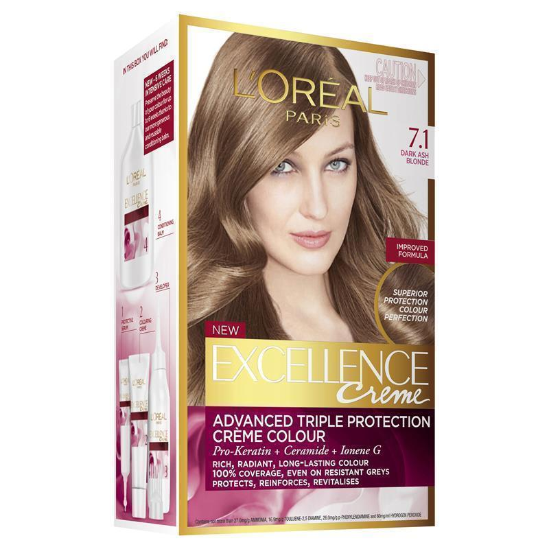 L Oreal Excellence 7 1 Dark Ash Blonde My Chemist