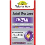 Nature's Way Joint Restore Triple Action Glucosamine + Chondroitin + MSM 60 Tablets