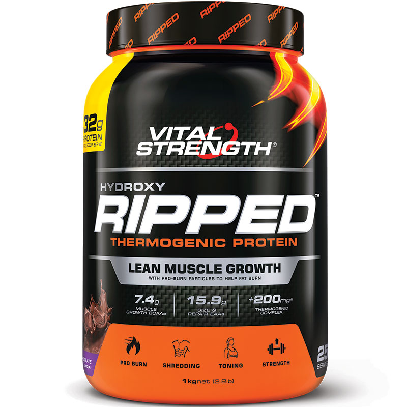 VitalStrength Hydroxy Ripped Workout Protein Powder 1Kg ...