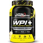 VitalStrength WPI Plus 100 Whey Protein Isolate 1Kg Vanilla