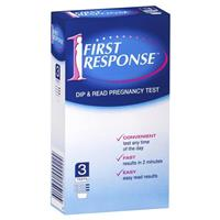 First Response Dip and Read Pregnancy Test 3 Tests