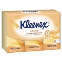 Kleenex Facial Tissues 9 Pocket Aloe Vera 6 Pack
