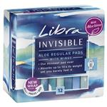 Libra Pads Invisible with Wings Regular Aloe Vera 12