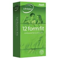 Ansell Lifestyles Condoms Form Fit 12 Pack