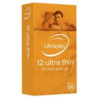 Ansell Lifestyles Condoms Ultra Thin 12 Pack