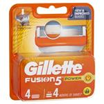 Gillette Fusion Power Shaving Blades Refill 4 Pack