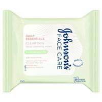 Johnson & Johnson Face Care Oil Balancing Facial Cleansing Wipes For Combination Skin