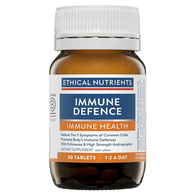 Ethical nutrients immune defence cough amp cold relief 30 tablets
