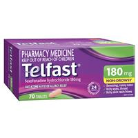 Telfast 180mg 70 tablets
