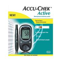 Accu-Chek Active Blood Glucose Testing Meter Kit (No Test Strips Included)