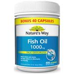 Nature's Way Odourless Fish Oil 1000mg 400 + 40 free Caps