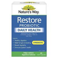 Nature's Way Digestive Health Restore Daily Probiotic 28 Capsules