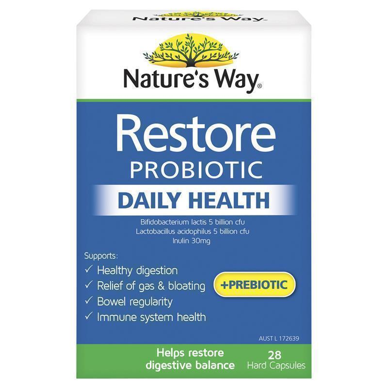 Nature S Way Restore Daily Probiotic  Capsules