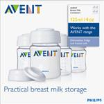 Avent Bottle PP 125ml Storage Containers 4 Pack Bpa Free