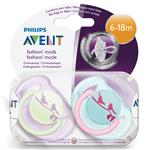 Avent Soother Fashion 6-18Months BPA Free 2 Pack