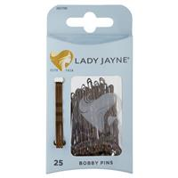 Lady Jayne Bobby Pins, Brown, 4.5 Cm, Pk25