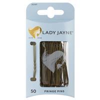Lady Jayne Fringe Pins, Brown, 5 Cm, Pk50