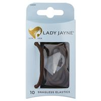 Lady Jayne Snagless Thick Elastics, Brown, Pk10
