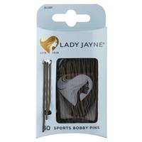 Lady Jayne Super Hold Contoured Bobby Pins, Brown, Pk 60