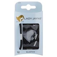 Lady Jayne Thick Elastics, Black, Pk12