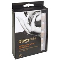 Manicare Glam Self-Stick Nails - Natural French Pk 24