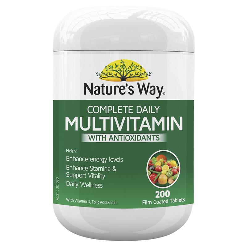 multivitamin nature way daily complete natures vitamins tablets plus minerals spirulina multivitamins health pack tablet
