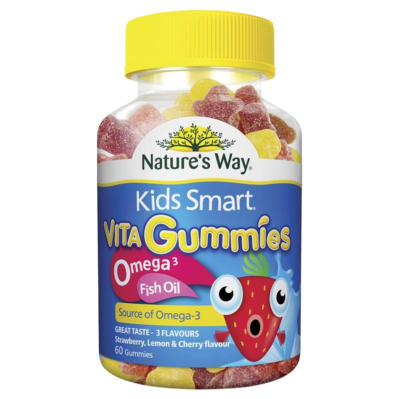 Buy nature 39 s way kids smart vita gummies omega 3 fish oil for Fish with omega 3